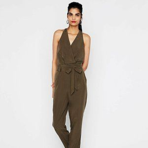 NWT Express Olive Green Belted Jumpsuit Size 2